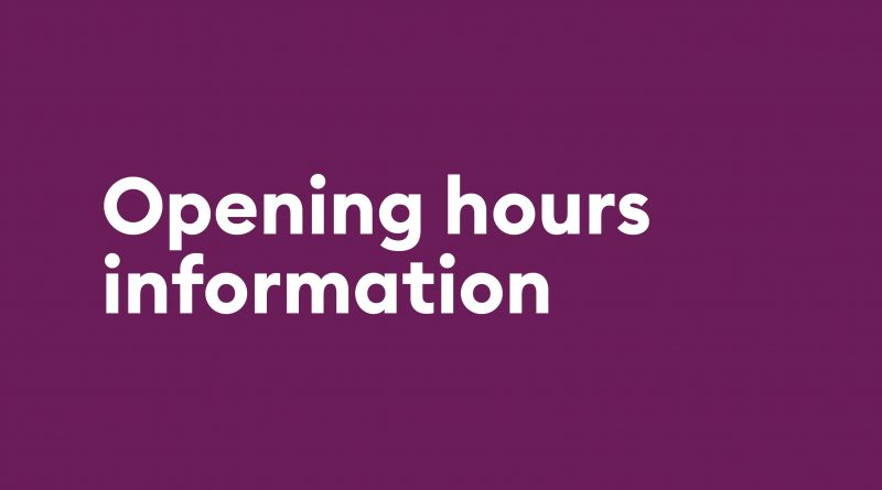 Updated Opening Hours