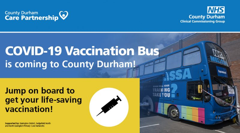 NHS vaccine bus to deliver more walk-in jabs across County Durham